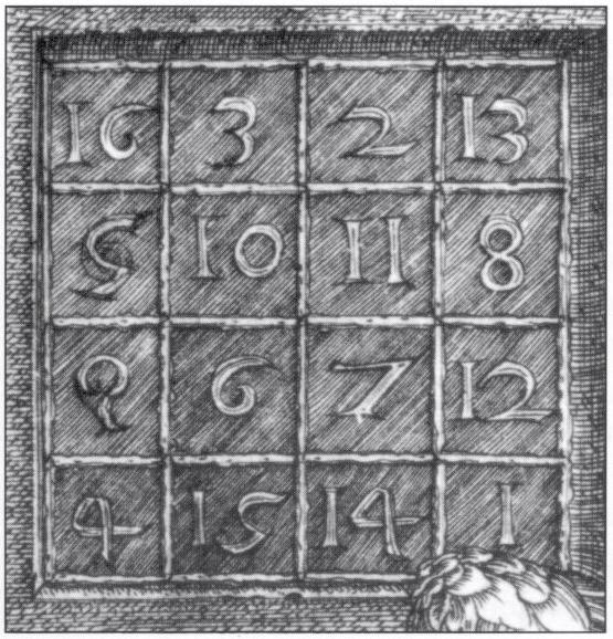 матрица, Albrecht_Dürer_-_Melencolia_I_(detail)